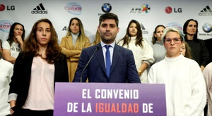 Aganzo lamentó la falta del convenio femenino. EFE/Mariscal