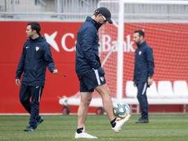 El Sevilla se ejercitó y Lopetegui dio la lista. EFE