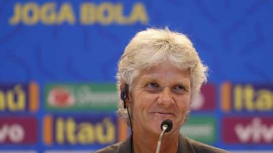Pia Sundhage se convirtió en nueva seleccionadora de Brasil en julio. EFE