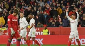 El Sevilla pudo haber firmado un triunfo aún más holgado. EFE