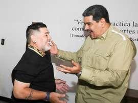 Maradona recusa treinar a Venezuela. EFE/Prensa Miraflores