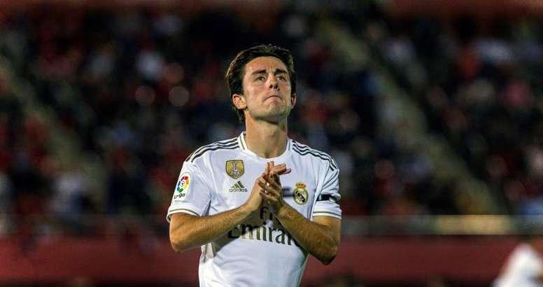 Álvaro Odriozola es uno de los descartes habituales de Zidane. EFE/Archivo