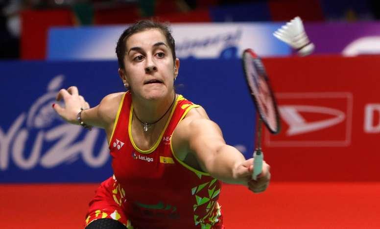 La española Carolina Marín durante la final del Masters de Indonesia. EFE/EPA/ADI WEDA/Archivo