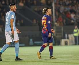 Barcelona vira com dois gols de Griezmann e avança às oitavas. EFE/ Sergio G. Canizares
