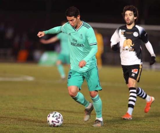 Real Madrid derrotou o Unionistas por 3 a 1 fora de casa e avançou na Copa do Rei. EFE/ J.M García