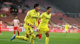 El Villarreal goleó ante un Montilivi casi vacío. EFE