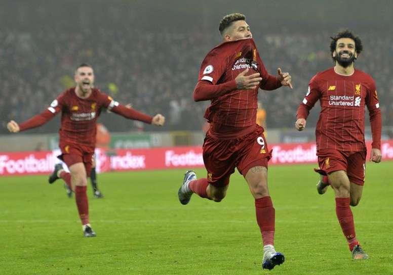 Firmino rescató al Liverpool. EFE