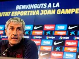 Setién admet qu'il s'est fait une effrayer en Coupe du Roi. EFE/Enric Fontcuberta