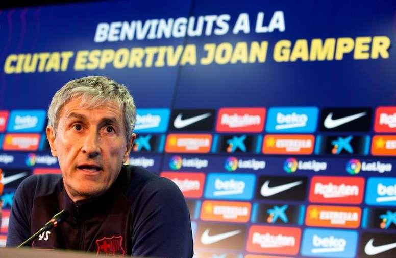 Setién reconoció que sufrió viendo al Barça jugar ante el Ibiza. EFE