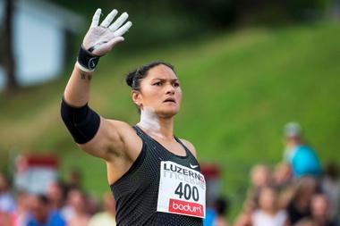 Valerie Adams de Nueva Zelanda durante una competición. EFE/ALEXANDRA WEY/Archivo