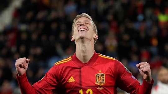 Dani Olmo rêve de jouer l'Euro. EFE