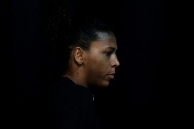 Fotografía de archivo de la judoca brasileña Rafaela Silva durante una rueda de prensa el 20 de septiembre de 2019 en Río de Janeiro (Brasil). EFE/Antonio Lacerda
