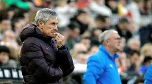 Un ancien du Barça critique Setién. EFE/Juan Carlos Cárdenas