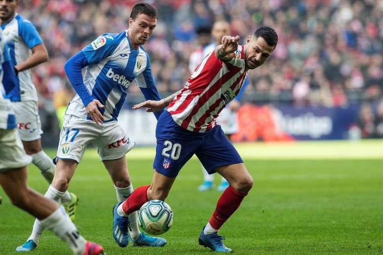 Atlético y Leganés empatan en el show de Cuéllar. EFE