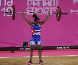 Cuba competirá en la cita italiana del 27 al 31 de enero con la subcampeona mundial Ludia Montero (imagen), quien se inscribió en la categoría de 49 kilogramos (kg), y Marina Rodríguez (64 kg), plata de los Juegos Panamericanos de Toronto 2015. EFE/Martin Alipaz/Archivo