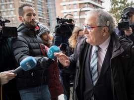 Luis Sabalza tuvo que declarar por el caso de los amaños. EFE