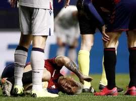 Osasuna comenzó la semana con bajas. EFE