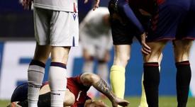 Chimy Ávila sufrió una grave lesión en la rodilla. EFE