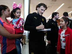 Forlán se enteró del accidente de Kobe en Los Ángeles. EFE/Raúl Martínez