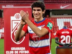 Vallejo está convencido de que crecerá de la mano del Granada. EFE