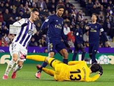 Courtois explicó cómo se sintió en la tanda de penaltis ante el Atlético. EFE