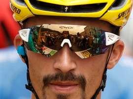 El ciclista francés Julian Alaphilippe, del Deceuninck-Quick Step. EFE/EPA/YOAN VALA/Archivo