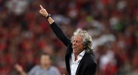 Jorge Jesus quase foi um técnico 'culé'. EFE/Marcelo Sayão