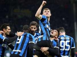 El Inter se mete en semifinales de la Coppa Italia. EFE/EPA/MATTEO BAZZI