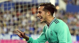 Lucas Vázquez reconoció sentirse cómodo en el lateral derecho. EFE