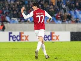 Trincao rêve déjà de jouer avec Leo Messi. EFE