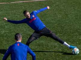 Carrasco, principale nouveauté pour la Ligue des Champions. EFE/Rodrigo Jiménez