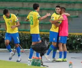 Brasil, sin clemencia ante Paraguay. EFE/Ernesto Guzmán Jr.