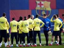 Le groupe du Barça pour affronter le Betis en Liga. EFE
