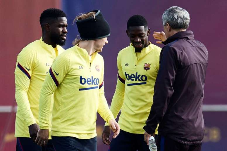 Griezmann and Dembélé completed part of the work. EFE