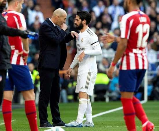 La blessure dont Zidane se serait bien passé. EFE