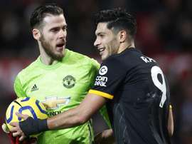 De Gea celebrated his 400 games for Manchester United. EFE