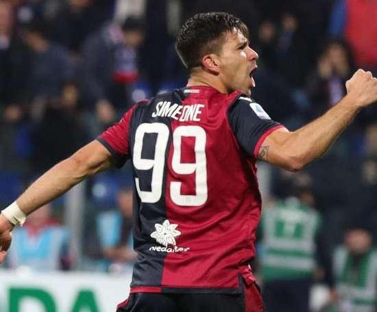 Gio Simeone fue insuficiente ante el Parma. EFE