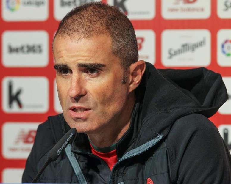 Gaizka Garitano analizó el inminente duelo contra el Barça. EFE/Miguel Toña/Archivo