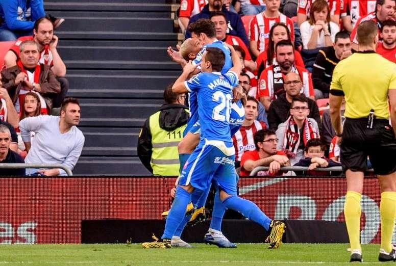 El Getafe puso tierra de por medio con el Athletic. EFE