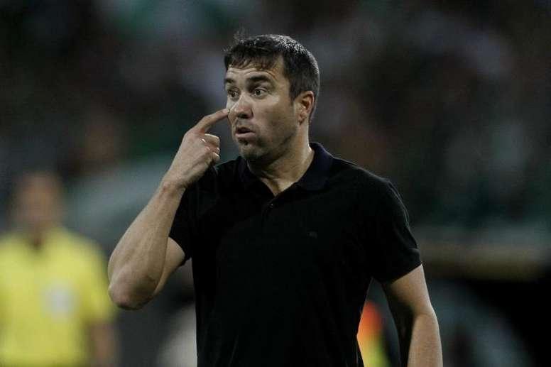 Coudet ve innegociable la actitud del Celta. EFE/Luis Eduardo Noriega