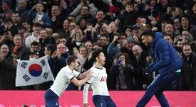 Son Heung-min marcou o segundo gol da vitória do Tottenham. EFE/EPA/ANDY RAIN
