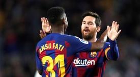 La Juventus también ha preguntado por Ansu Fati. EFE