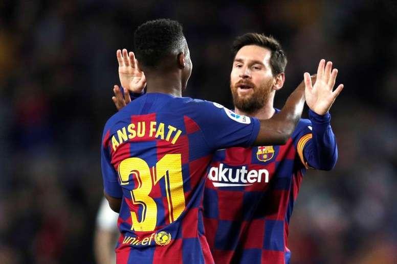 Ansu Fati, la recrue star du Barça B. EFE