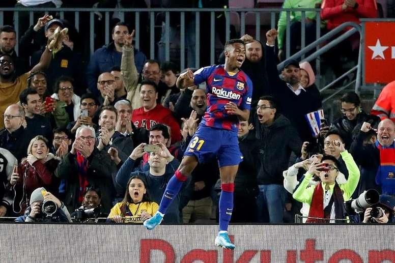 Ansu Fati pourrait finir la saison avec la réserve. AFP
