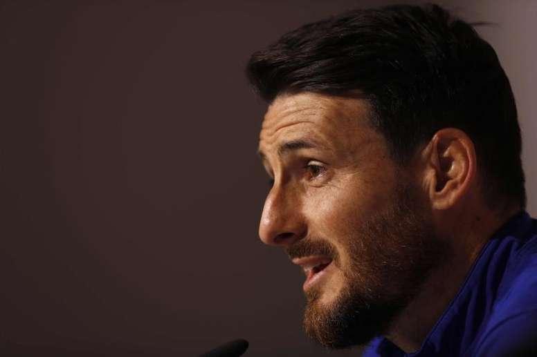 Aduriz defendió con claridad el actual formado de Copa. EFE/Luis Tejido