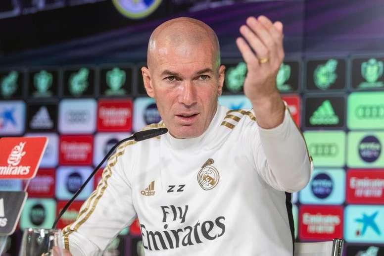 Zidane, orgulhoso da vitória. EFE