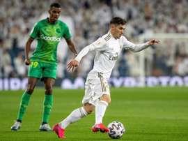 Brahim Díaz revelou o que o Real Madrid pediu para enfrentar a quarentena. EFE/Rodrigo Jiménez