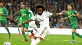 Marcelo está no Real Madrid desde os 18 anos. EFE/Kiko Huesca