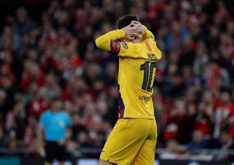 Le fossé se creuse entre Messi et le Barça. EFE