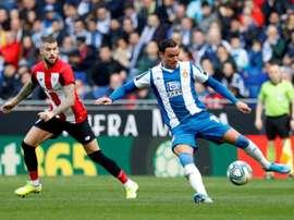 De Tomás, absent pour l'Espanyol face aux Wolves. EFE